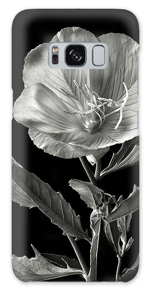 Mexican Evening Primrose In Black And White Galaxy Case by Endre Balogh