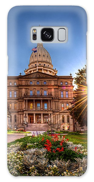 Michigan Capitol - Hdr - 2 Galaxy Case by Larry Carr