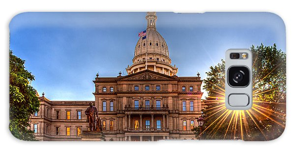 Michigan Capitol - Hdr-1 Galaxy Case by Larry Carr