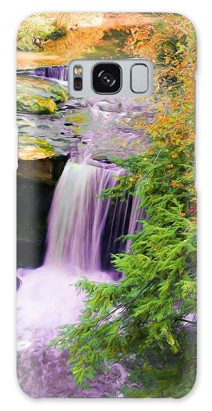 Mill Creek Waterfall Galaxy Case by Michelle Joseph-Long