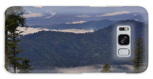 Mists In The Siskiyou Mountains Galaxy Case by Mick Anderson