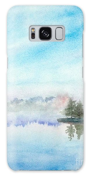 Misty Lake Galaxy Case by Yoshiko Mishina