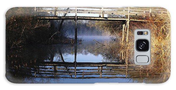 Misty River Bridge Galaxy Case by Gerald Strine