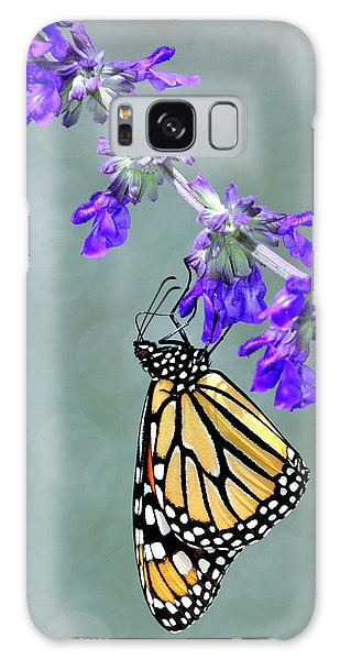 Monarch On Purple Galaxy Case