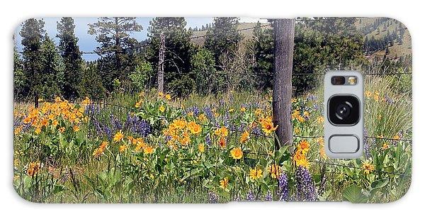 Montana Wildflowers Galaxy Case by Athena Mckinzie
