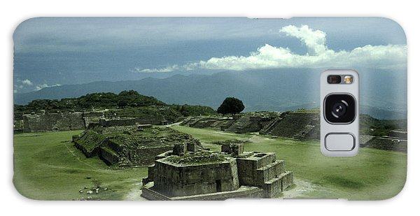 Monte Alban Plaza Galaxy Case by John  Mitchell