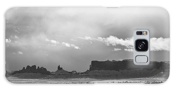 Monument Valley In Snow Panorama Galaxy Case