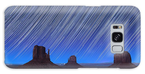 Astro Galaxy Case - Monument Valley Star Trails 1 by Jane Rix