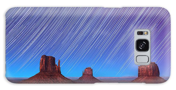Astro Galaxy Case - Monument Valley Star Trails  by Jane Rix