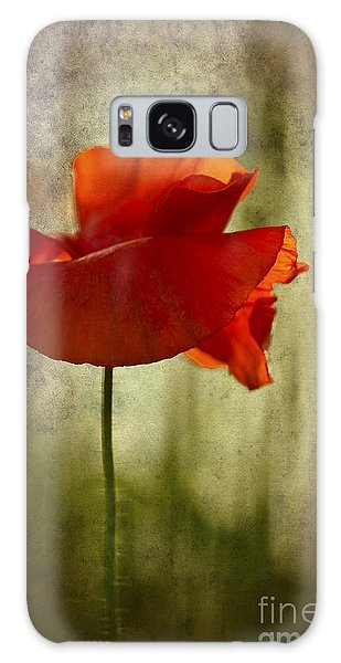 Moody Poppy. Galaxy Case by Clare Bambers - Bambers Images
