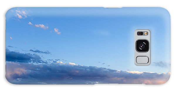 Moon Above The Horizon Galaxy Case by Monte Stevens