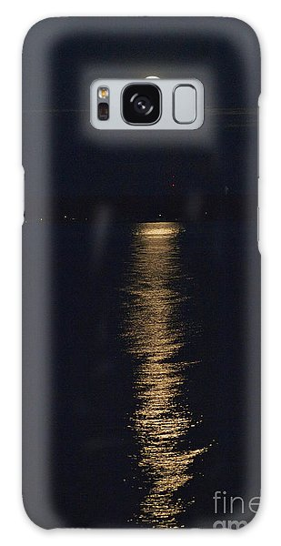 Moon Over Seneca Lake Galaxy Case by William Norton
