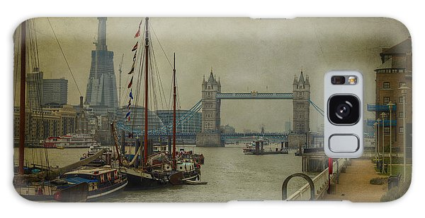 Moored Thames Barges. Galaxy Case by Clare Bambers