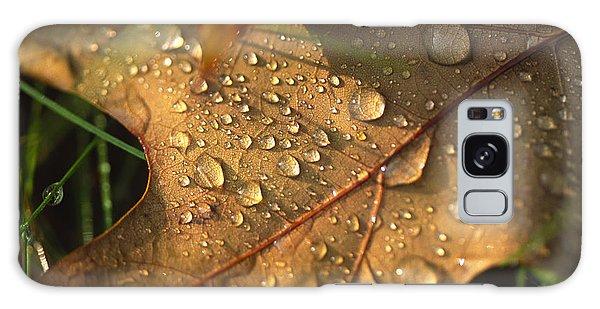 Morning Dew On Oak Leaf Galaxy Case