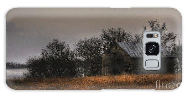 Morning Fog At Jorgens Barn Galaxy Case
