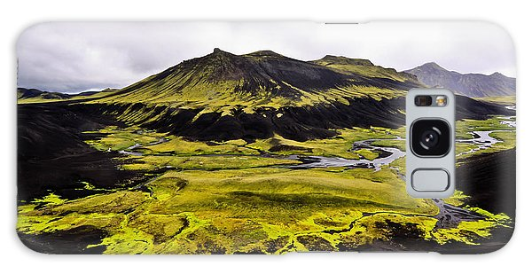 Moss In Iceland Galaxy Case
