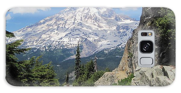 Mount Rainier From The Pinnacle Peak Trail Galaxy Case