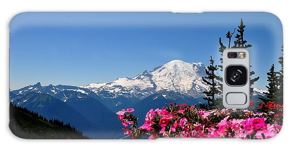 Mount Rainier Seen From Crystal Mountain Summit  2 Galaxy Case by Tanya  Searcy