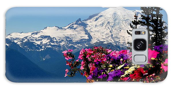Mount Rainier Seen From Crystal Mountain Summit  3 Galaxy Case by Tanya  Searcy