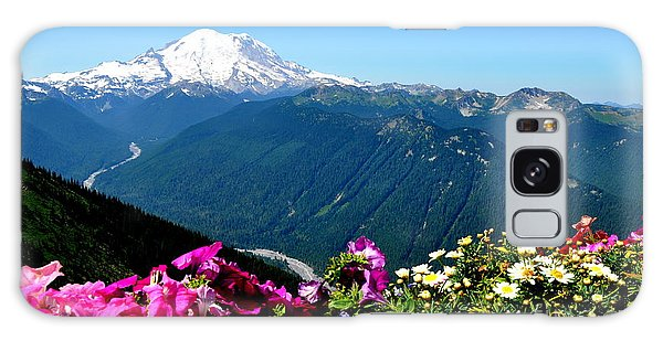 Mount Rainier Seen From Crystal Mountain Summit Galaxy Case