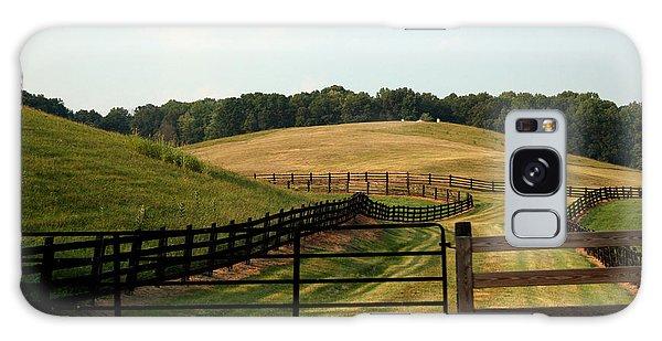 Mountain Farmland Galaxy Case