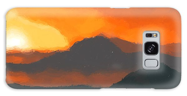 Mountain Sunset Galaxy S8 Case - Mountain Sunset by Pixel  Chimp