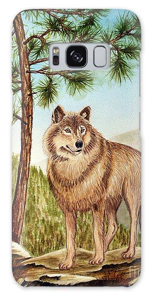 Mountain Wolf Galaxy Case by Judy Filarecki