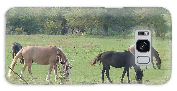 Galaxy Case - Mowing The Lawn by Bonfire Photography