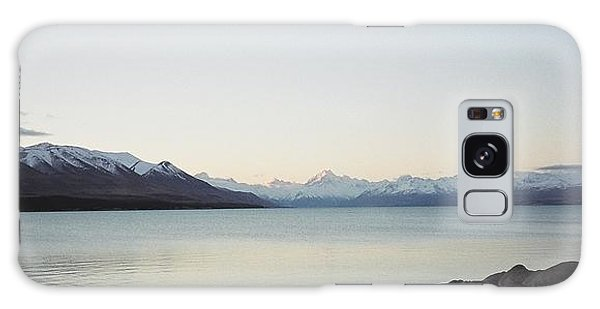 Mt Cook From Lake Pukaki Galaxy Case by Peter Mooyman