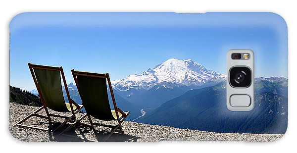 Mt. Rainier Chairs And Chipmunk Galaxy Case by Tanya  Searcy
