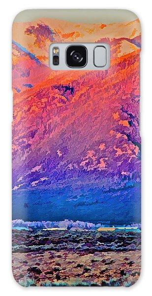 Mt Wheeler At Sunset Galaxy Case