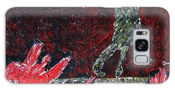 Music Inspired Dancing Tango Couple On Pomegranates In Rain Juice Contemporary Lyrical Splattered Galaxy Case