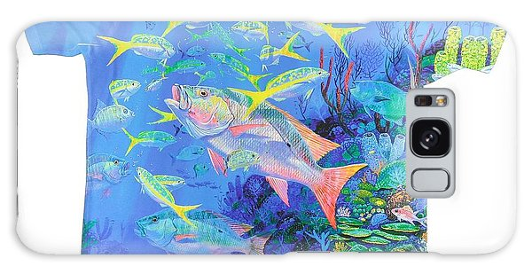 Reef Diving Galaxy Case - Mutton Snapper Mens Shirt by Carey Chen