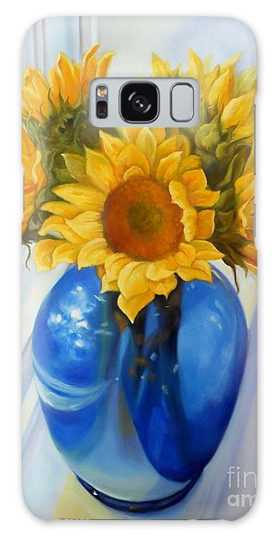 My Sunflowers Galaxy Case by Marlene Book