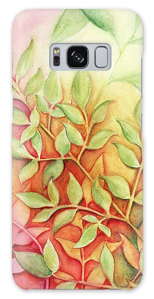 Nandina Leaves Galaxy Case by Carla Parris