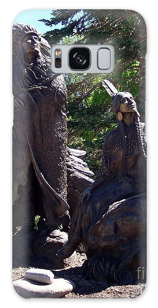 Native American Statue Galaxy Case by Chalet Roome-Rigdon