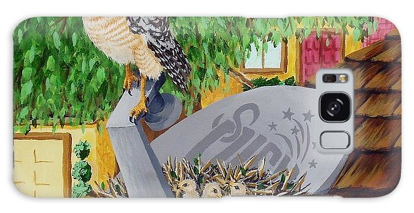 Nature Channel- Red Shouldered Hawk Galaxy Case by Katherine Young-Beck