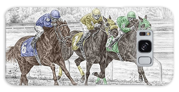 Neck And Neck - Horse Race Print Color Tinted Galaxy Case