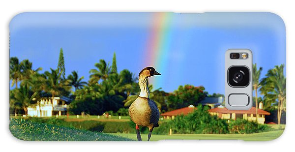 Nene At The End Of The Rainbow Galaxy Case by Lynn Bauer