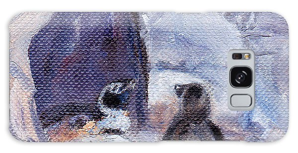 Nesting Penguins Galaxy Case by Brenda Thour