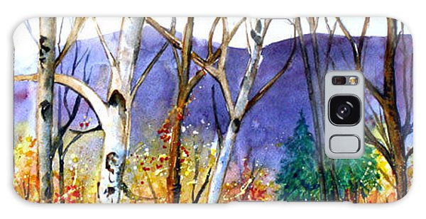 Galaxy Case featuring the painting New England Fall by Priti Lathia