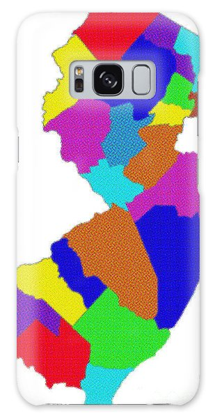 New Jersey Colorful Counties Galaxy Case