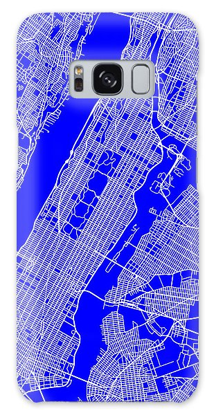 New York City Map Streets Art Print   Galaxy Case by Keith Webber Jr
