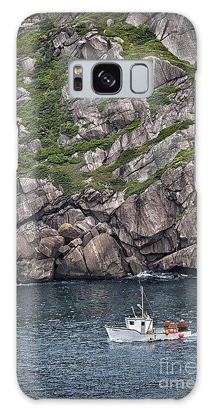 Newfoundland Fishing Boat Galaxy Case by Verena Matthew