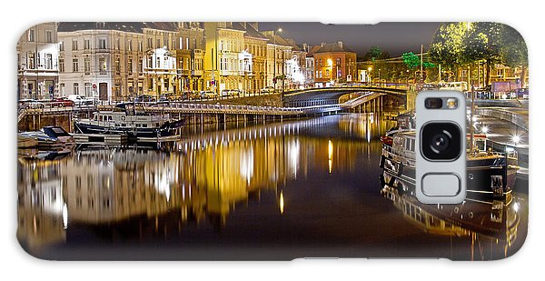 Nighttime Along The River Leie Galaxy Case