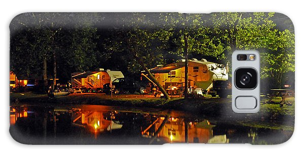Nighttime In The Campground Galaxy Case by Kay Lovingood