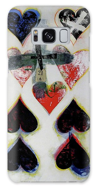 Nine Of Hearts 21-52 Galaxy Case by Cliff Spohn