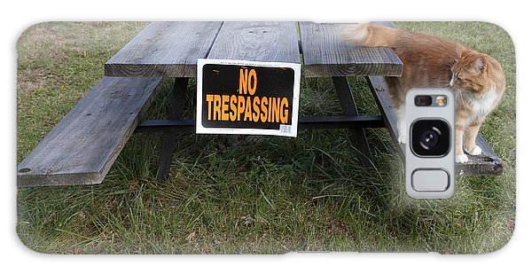 No Trespassing Galaxy Case by Jeannette Hunt