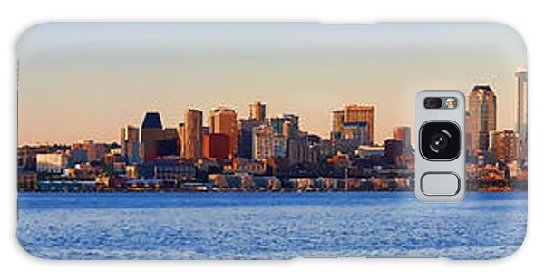 Northwest Jewel - Seattle Skyline Cityscape Galaxy Case by James Heckt