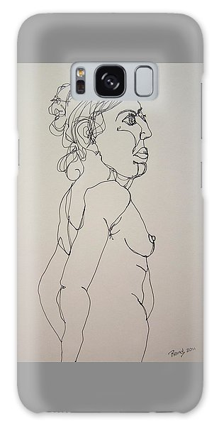 Nude Girl In Contour Galaxy Case by Rand Swift